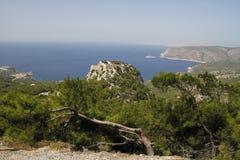 Замок Monolithos стоковые фото
