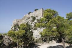 Замок Monolithos стоковые изображения rf