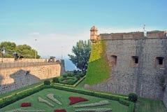 Замок Montjuich, Барселона Стоковая Фотография