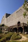 Замок Montsegur, страна Альбигойца, Стоковая Фотография RF