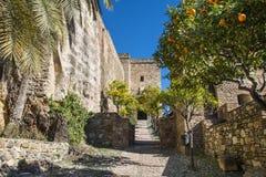 Замок Moorish в Малаге Испании Стоковое фото RF