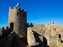 Замок Moorish, Sintra, Португалия Стоковое Изображение