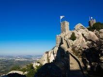 Замок Moorish, Sintra, Португалия Стоковое фото RF