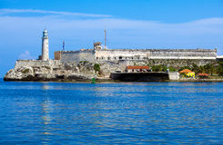 Замок Morro, Гавана, Куба Стоковое Фото