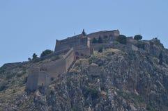 Замок na górze горы в Nauplion Архитектура, перемещение, ландшафты, круизы стоковые фотографии rf
