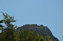 Замок na górze горы в Nauplion Архитектура, перемещение, ландшафты, круизы стоковое изображение rf