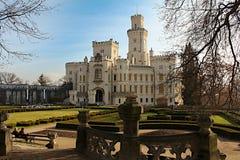 Замок nad Vltavou ¡ Hlubokà в чехии стоковые изображения rf