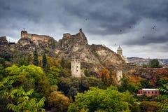 Замок Narikala в Тбилиси Стоковые Изображения