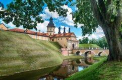 Замок Nesvizh, Беларусь стоковые изображения