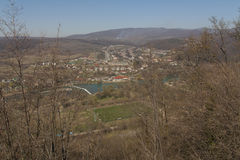 Замок Nevitsky губит деревню Kamyanitsa, 12 km к северу от Uzhgorod, области Zakarpattia, Украины построил в взгляде фото тринадц Стоковые Фотографии RF