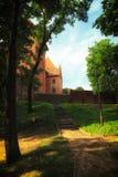 Замок Nidzica Польша старый Стоковое Изображение RF