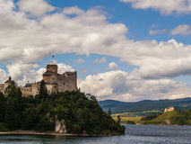 Замок Niedzica, старые руины средневекового замка, Польша Стоковая Фотография