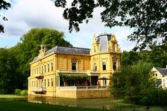 Замок Nienoord, лук-порей, Groningen, Нидерланды Стоковое Изображение RF