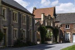 Замок Nieuwenhoven в захолустном домене Nieuwenhoven, Бельгии Стоковая Фотография RF