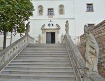 Замок Nitra - внутри замка стоковые фотографии rf