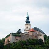 Замок Nitra в республике Slovak стоковое изображение rf