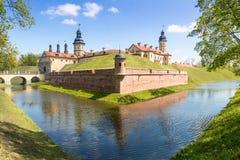 Замок Nyasvizh Город Nyasvizh Беларусь Стоковая Фотография