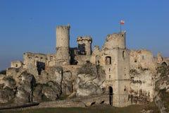 Замок Ogrodzieniec губит Польшу. Стоковое Изображение
