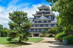 Замок Okayama или замок вороны Стоковые Изображения RF