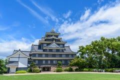 Замок Okayama или замок вороны Стоковые Фото