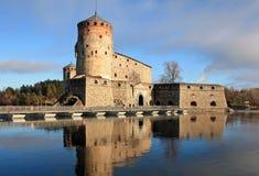 Замок Olavinlinna стоковое фото rf