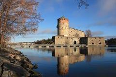 Замок Olavinlinna стоковая фотография