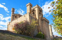 Замок Olite, Наварра Стоковые Изображения RF