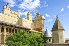 Замок Olite, Наварра Стоковое Фото