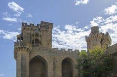 Замок Olite, Наварра Стоковое Изображение