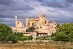 Замок Olite средневековый, Испания Стоковые Фото