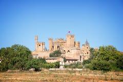Замок Olite средневековый, Испания Стоковое фото RF