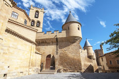 Замок Olite, Navarre Стоковое фото RF