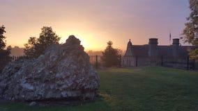 Замок Oswestry восхода солнца стоковые фотографии rf