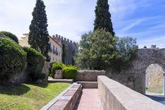 Замок Palmela, полуостров Setúbal, Португалия Стоковое Фото