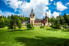 Замок Peles Стоковая Фотография