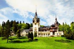Замок Pelesh, Румыния Стоковая Фотография