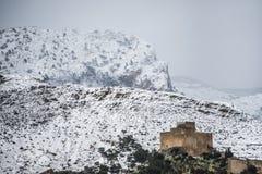 Замок Petrer Аликанте, Испании Стоковые Изображения