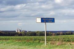 Замок Pierrefonds в стране Уазы Стоковые Фото