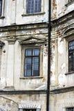 Замок Podgoretsky Элементы старого замка замок старый Стоковое Изображение