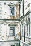 Замок Podgoretsky Элементы старого замка замок старый Стоковая Фотография