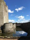 Замок Raglan, Уэльс Стоковые Фотографии RF