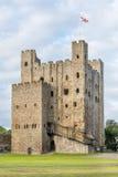 Замок Rochester в Кенте, Англии Стоковые Изображения RF