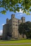 Замок Rochester в Кенте, Великобритании Стоковые Изображения RF