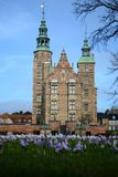 Замок Rosenborg весеннего времени - Копенгаген Danmark стоковая фотография rf