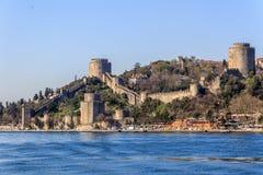 Замок Rumelian на Bosphorus Стоковое Изображение