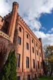 Замок Rzucewo в области Польши Померании Стоковая Фотография RF