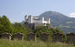 замок salzburg Стоковое Изображение