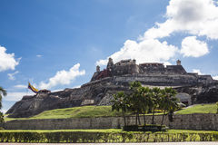 Замок San Felipe в Cartagena de Indias стоковые изображения rf