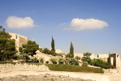 замок santa Барвары стоковая фотография rf