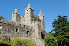 Замок Santa Maria da Feira - Португалии стоковые изображения rf